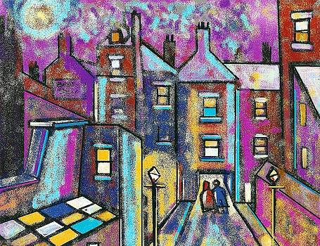 Houses galore digitally altered print by Peter  McPartlin