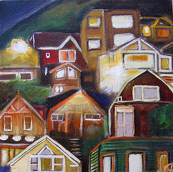 Houses in Bernal Heights by Nathalie Fabri