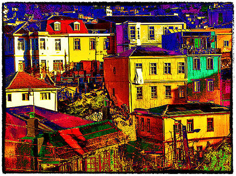 Houses in Valparaiso by Peter Crass