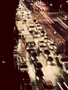 Houston Street At Night by Darren Martin