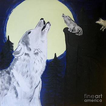 Howl at the moon by Eva  Dunham