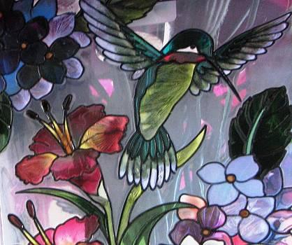 Hummingbird Glass Art by Judyann Matthews