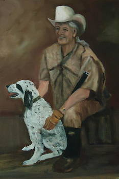 Hunting Dog and Master by Betty Pimm