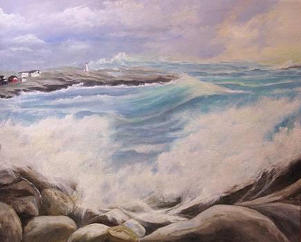 Hurricane Bill Nova Scotia by Anne Marie Spears