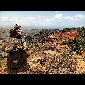 I Climb Rocks To Take Pictures Of Rocks by Michael Misciagno