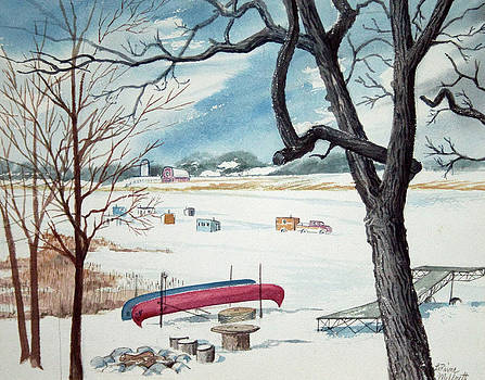 Ice Fishing Time Again by LaReine McIlrath