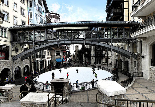 Ice Skating Rink in Vail Square by Bill Kennedy