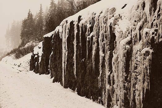 Marilyn Wilson - Icicles on the Rock - sepia