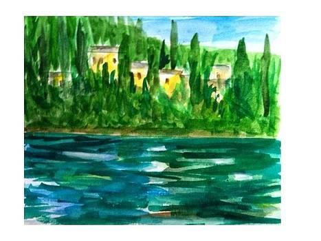 Il Lago Veduta by Angela Puglisi