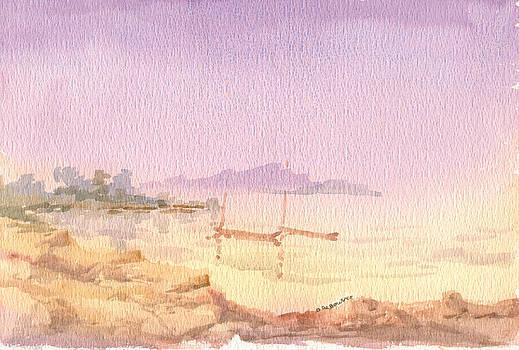 Ile pres de SIngapour by Bernadette De Bouver