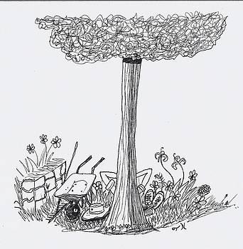 I'll be working in the garden dear. by Tony  Nelson