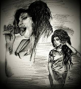 In memory of Amy Winehouse 2 by Crystal Webb