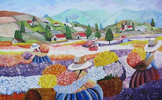 In the flower field by Dis Art