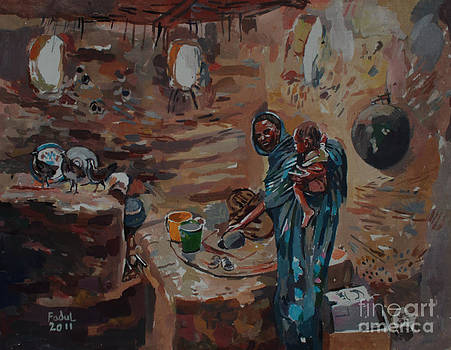 In the kitchen by Mohamed Fadul