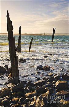 Incoming Tide Lindisfarne by George Hodlin