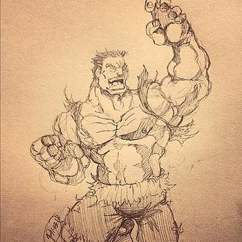Incredible Hulk Sketch by Rocky Martinez