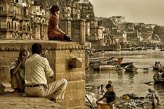 Neville Bulsara - India  Along the river ghats Varanasi