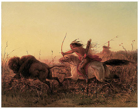Charles Wimar - Indian Buffalo Hunt