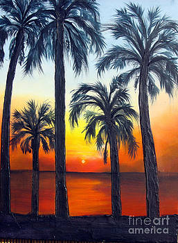 Indian river sunset by Darlene Green
