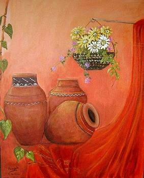 Indian Still Life by Priya  Yavluri