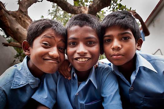 Indian teen boys by Subpong Ittitanakul