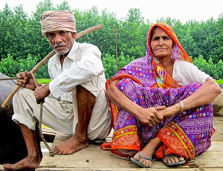 Indian village couple by Jyotsna Chandra