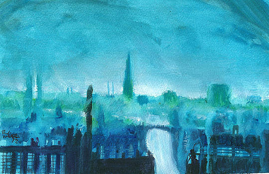 Paul Mitchell - Industrial Townscape Blue