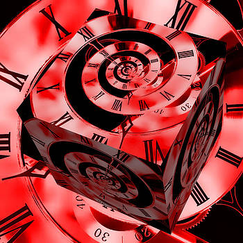 Steve Purnell - Infinity Time Cube Red