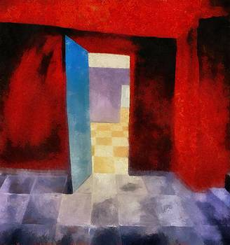 Michelle Calkins - Interior with Red Walls