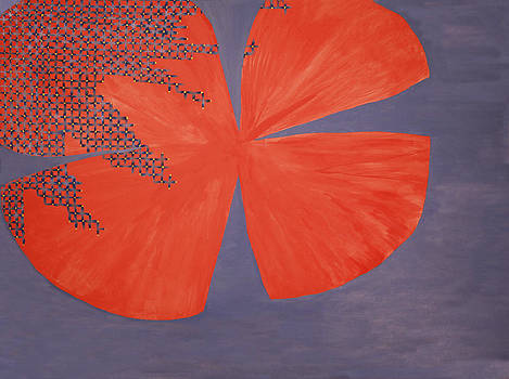 Inverse Hibiscus Silhouette by Victoria Golden