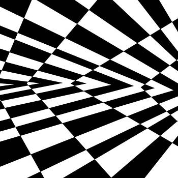 Inverted wedges optical illusion by Casino Artist