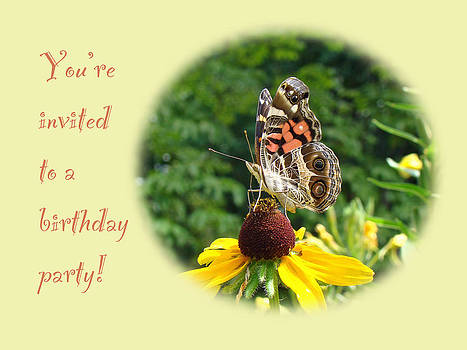 Mother Nature - Invitation Birthday Party - American Lady Butterfly