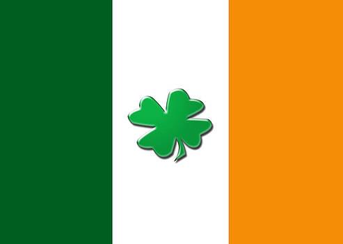 Irish shamrock flag by Christopher Rowlands