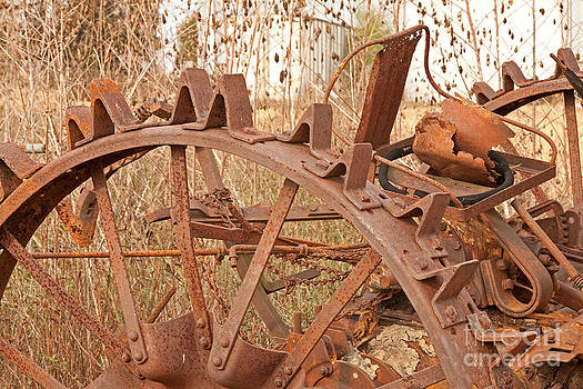 Iron Wheeled Tractor by Russell Christie