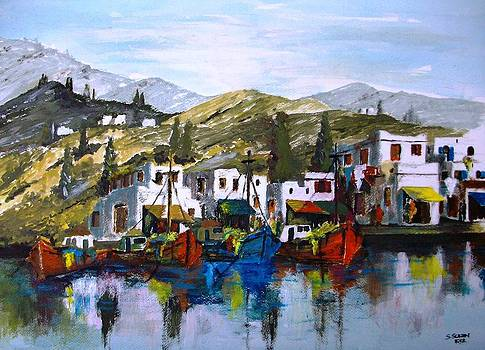 Island in the cyclade by Samir Sokhn