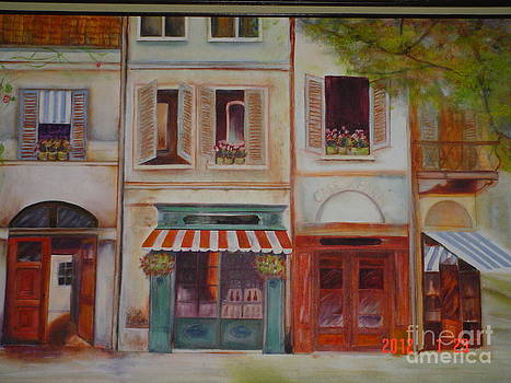 Italian Street Scene by Geri Jones
