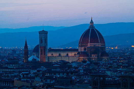 ITL-0007-Florence Duomo At Dusk by Les Abeyta