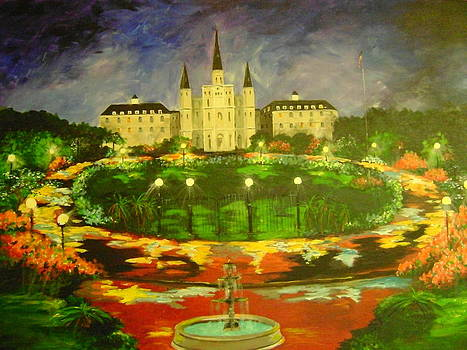 Jackson Square New Orleans by Barbara Sudik