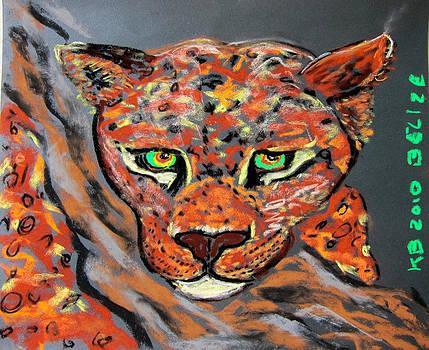 Jaguar Bebe Portrait by Kathryn Barry