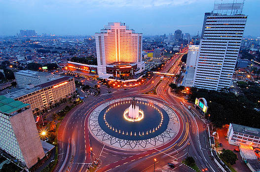 Jakarta Cityscape by Barry Kusuma