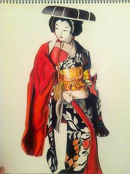 Japanese Woman by Maritza Montnegro