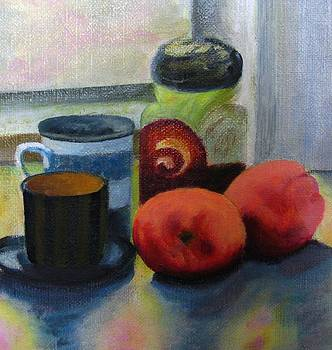 Jar and peaches by Selma Suliaman