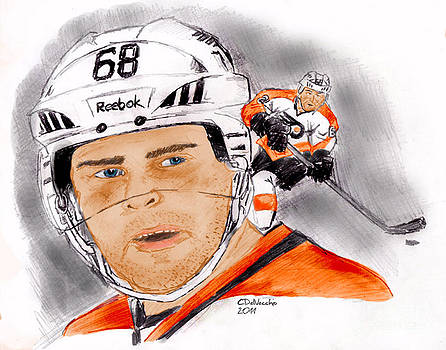 Chris  DelVecchio - Jaromir Jagr- color