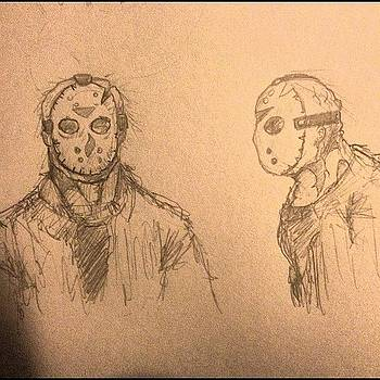 Jason Voorhees Profile Sketches by Rocky Martinez