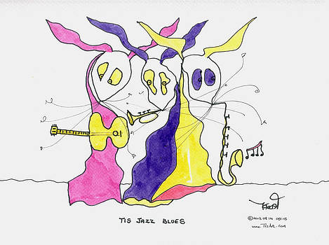 Jazz Blues Trio by Tis Art
