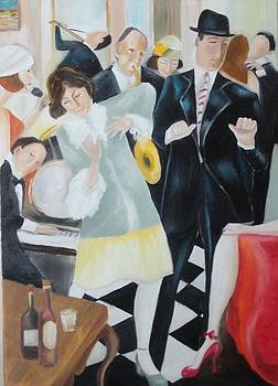 Sold/Jazz Party by Farid  Fakhriddin 100x70 cm