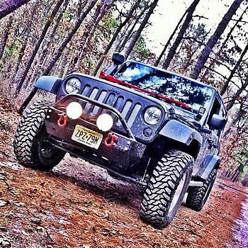 #jeep #jeepjk #jeepfun #woods by Matthew Loving