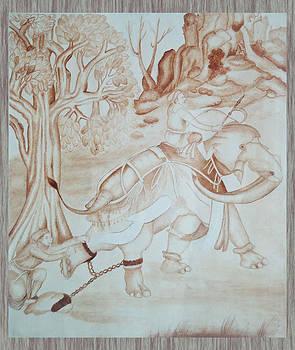 Jehangir at elephant by Shahid altaf Shayaf