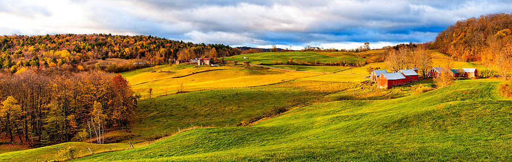 Jenne Farm Woodstock Vermont Panoramic 6428  by Ken Brodeur
