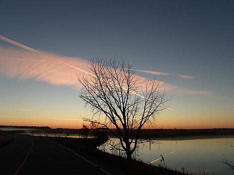 Jet Stream Sunrise by Brian  Maloney